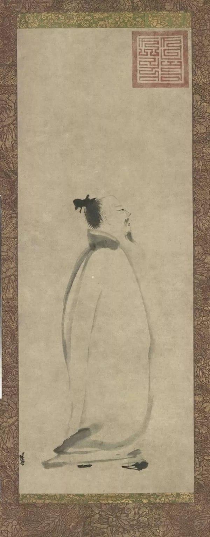 梁楷《李白吟行图》,东京国立博物馆馆藏。